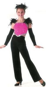 Clearance SOPHISTICATED Jazz Tap Jumpsuit Acro Dance Costume Child & Adult S