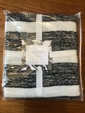 MAGNOLIA HOME By JOANNA GAINES Duke Collection THROW Black & White 50 X 60 New