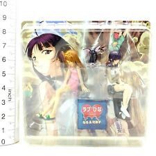*A1185 Love Hina Again Naru Narusegawa & Kanako Urashima & Kuro Figure Japan