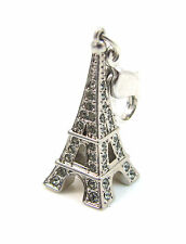 Swarovski Eiffel Tower Charm 1111141 Black Diamond Crystal Bracelet No Box Paris
