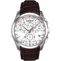 TISSOT COUTURIER  CHRONOGRAPH WATCH T0356171603100 BRAWN LEATHER RRP £360