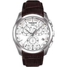 TISSOT COUTURIER CHRONOGRAPH WATCH T0356171603100 BRAWN LEATHER QUARTZ RRP £360