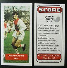 Países Bajos: Ajax-Johan Cruyff-Puntuación Tarjeta De Comercio De Fútbol UK