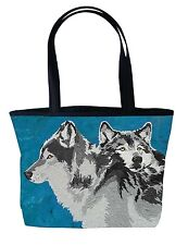 Wolf Handbag Tote Bag by Salvador Kitti - Support Wildlife Conservation