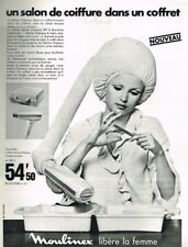 D- Publicité Advertising 1969 Le Seche Cheveux Moulinex Casque