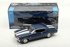1:18 Welly - 1970 Chevrolet Chevelle SS 454 Bleu