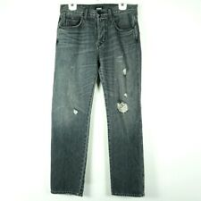 Hudson Mens Jeans Size 30 Dixon Easy Straight Fit Distressed Gray Button Fly