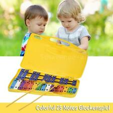 Colorful 25 Notes Glockenspiel Xylophone Percussion Rhythm Musical C1X9
