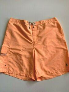 Polo Ralph Lauren Trunks Men's 2XL New Bright Orange Swimwear