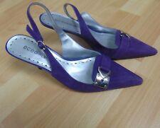 BCB Girls Women's Heels Purple Suede Buckle Ankle Strap Size 6 1/2 6.5 B
