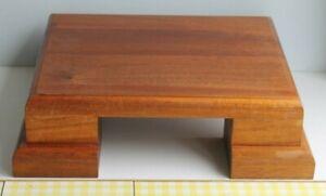 Solid Wood Varnished Laptop Riser, Plant Pot Stand or Ornament Platform