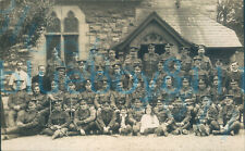 More details for ww1 mixed regiments platoon size group photo at church some with boer war ribbon