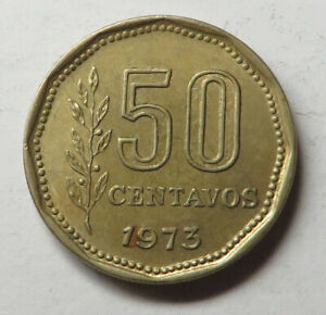 Argentina 50 Centavos 1973 Aluminum-Bronze KM#68 UNC