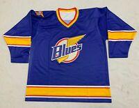 New Mens Large 48 St Louis Blues 1994-95 'Lost' Prototype Jersey Reverse Retro
