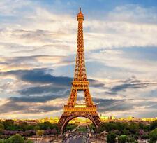 Eiffel Tower Sticker Paris Clouds Sky Beautiful Landscape Green City Traffic