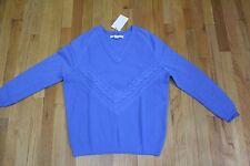 O'2ND hellblaue Wolle Cash Kabel Pullover Größe Medium Neu mit Etikett