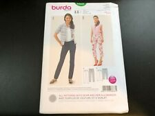 Burda Style Pattern 6810 Ms Button Front Top w//Sleeve /& Collar Variations 8-20
