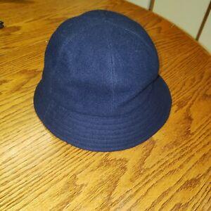 Vintage LL Bean Navy Blue Wool Bucket Hat, Size Medium, USA made