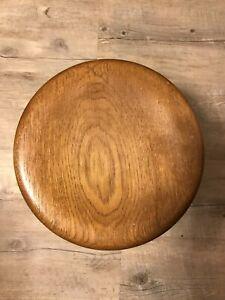 footstool: solid oak