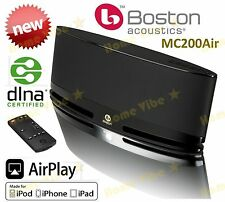 NEW BOSTON ACOUSTICS MC200Air WIRELESS SPEAKER iPOD iPHONE AIRPLAY BLACK RRP$549