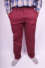 Tommy Hilfiger Tailored Regular Fit Elegante Chino Hose - Weinrot  Größe 54