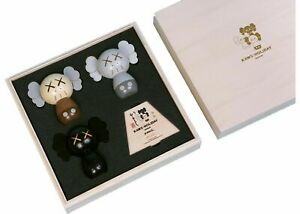 KAWS Holiday Japan KOKESHI Wood Doll Set Of 3 Limited /1000 NEW IN BOX Space