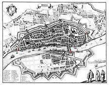 Mappa ANTICA 1647 Merian 30 anni di guerra Brema grandi REPLICA poster stampa pam0036