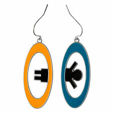 Portal 2 Inter-Spatial Portal Earrings NEW Toys Collectibles Video Game