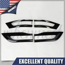 New fits 2014-2020 Jeep Grand Cherokee Gloss Black Tail Light Trim Bezel Kit USA