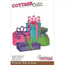 COTTAGE CUTZ PRESENTS BAG & BOWS CUTTING DIE IDEAL FOR BIRTHDAY CRAFTS