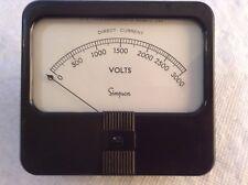 Simpson 0-3000 Vdc Meter