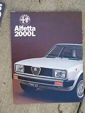 1980 Alfa Romeo Alfetta 2000L Color Promo Brochure Auto MORE PROMOS IN STORE U