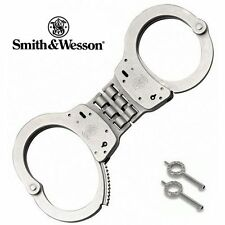S&W Smith & Wesson Hinged Nickel Handcuffs Steel (Model 300) -SW-350096