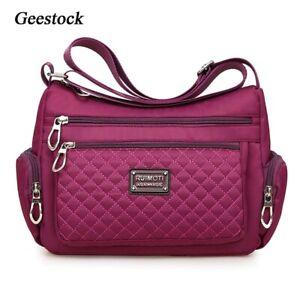 Waterproof Nylon Plaid Women's Crossbody Bag Shoulder Messenger Casual bag