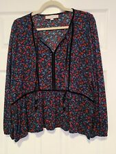 LOFT Floral Blouse Size Medium