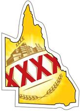 STICKER XXXX QLD state BUMPER STICKER FREE POST Aussie Beer Gold