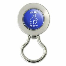 You Are Neato Cool Funny Humor Magnetic Metal Eyeglass ID Badge Holder