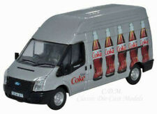 Oxford Ford Transit LWB14 Silver Coca Cola High Roof Delivery Van 1/76 OO Scale