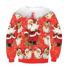 Women Men Ugly Christmas Sweater Xmas Jumper T shirt Pullover Tops Hoodies