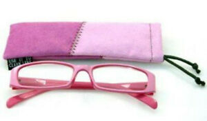 Calabria 727 Reading 2 TONE PINK Glasses w/Match Case Spring Hinge