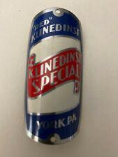 """Vintage """"Red"""" Klinedinst Special Bicycle Emblem York Pa Badge Nameplate"""