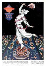 PUBBLICITA' 1924 LINOLEUM INLAID PAVIMENTO ELEGANZA BALLERINA ORIENTALE  NANNI