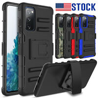 For Samsung Galaxy S20 FE 5G Shockproof Armor Belt Clip Holster Stand Case Cover