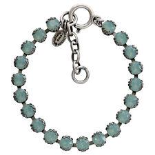 CATHERINE POPESCO La Vie Parisienne Silver PACIFIC BLUE Tennis Crystal Bracelet