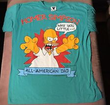 Vtg Homer Simpson Why You Little T-Shirt XL All American Dad 1990 The Simpsons