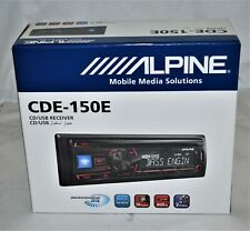Alpine CDE-150E Single DIN AM/FM, CD / USB, MP3, WMA Aux in Car Stereo Brand NEW