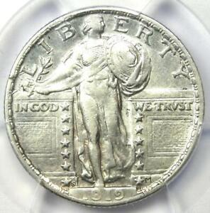 1919-S Standing Liberty Quarter 25C - Certified PCGS XF Details - Looks AU!
