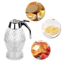 Neu Transparente Honig/Sirup Dispenser Honigspender Sirupgießer Mit Ständer K1