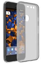 mumbi Hülle für Google Pixel Schutzhülle Slim Case Tasche transparent schwarz