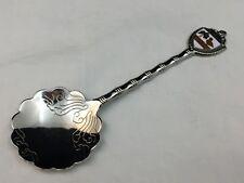 Fort Silver Scalloped Collectible Spoon Souvenir-Florida Usa-Palm Tree, Flamingo